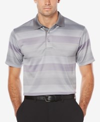 Pga Tour Men's Gradient Striped Golf Polo Grey