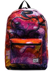 Herschel Supply Co. Multicolour Snoopy Galaxy Print Backpack Purple