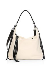 Botkier Samantha Leather Hobo Bag Cream Mineral Grey