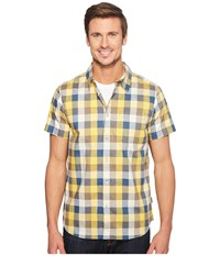 The North Face Short Sleeve Road Trip Shirt Falcon Brown Plaid Men's Short Sleeve Button Up Multi