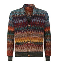 Missoni Zig Zag Button Cardigan Male Multi