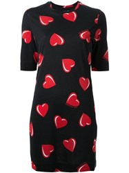 Love Moschino Heart Print T Shirt Dress Black