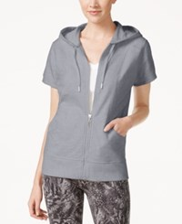 Styleandco. Style And Co. Short Sleeve Hoodie Only At Macy's Light Heather Grey