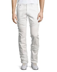 Maison Martin Margiela Five Pocket Straight Leg Stretch Jeans White