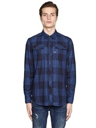 G Star Landoh Slim Fit Plaid Cotton Shirt