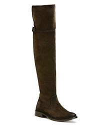 Frye Shirley Over The Knee Flat Boots Fatigue