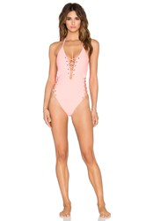 Gypsy 05 Conch Mondrian Grommet Laced One Piece Pink