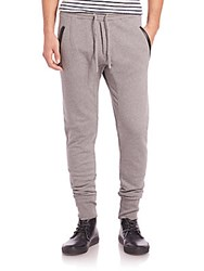 The Kooples Contrast Trim Jersey Sweatpants Grey
