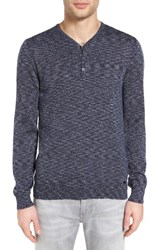 John Varvatos Men's Star Usa Space Dye Henley Sweater