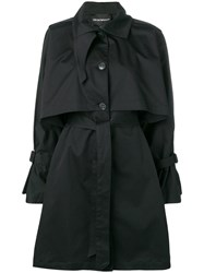 Emporio Armani Belted Trench Coat Black