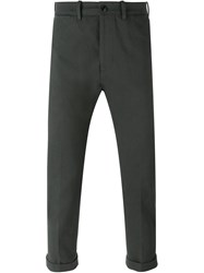 People People Tapered Trousers Green
