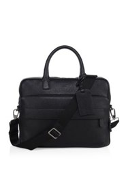 Giorgio Armani Textured Leather Briefcase Black