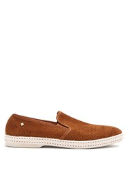 Rivieras Sultan Slip On Suede Loafers Brown