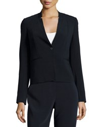 Tahari One Button Ponte Jacket Navy
