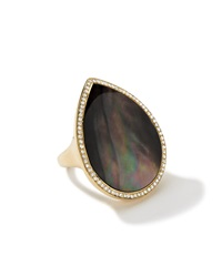 Ippolita 18K Black Shell Diamond Teardrop Ring