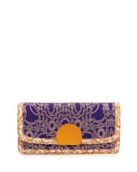 Dries Van Noten Brocade Clutch Bag Purple