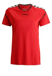 Hummel Authentic Charge Print Tshirt True Red