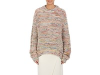 Acne Studios Women's Chunky Stockinette Stitched Sweater White