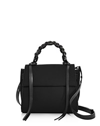 Elena Ghisellini Angel Small Velvet Satchel Black Gunmetal