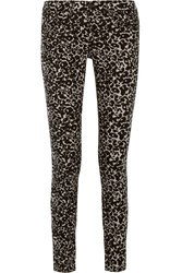 Rag And Bone Leopard Print Low Rise Skinny Jeans