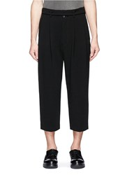 The Viridi Anne Pleated Wide Leg Suiting Pants Black