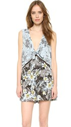 Free People Santiago Printed Romper Night Combo
