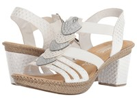 Rieker 66514 Rabea 101 Weiss Silber Shoes White