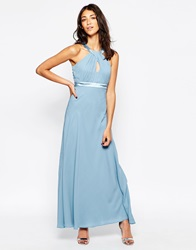 Traffic People Candy Rainbow Let's Dance Maxi Dress Blue
