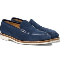 George Cleverley Riviera Suede Loafers Blue