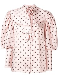 Mulberry Ballon Sleeved Blouse Pink