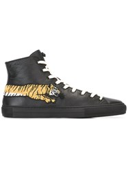 Gucci Tiger Embroidered Sneakers Black