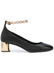 Stella Luna Chain Strap Pumps Black