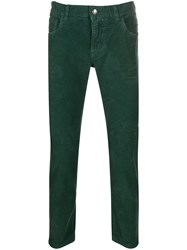 Dolce And Gabbana Slim Fit Corduroy Jeans Green