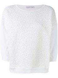 Fabiana Filippi Textured Knit Jumper Women Cotton 40 White
