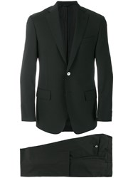 Dell'oglio Slim Fit Suit Wool Mohair Black
