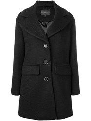 Emporio Armani Loose Fitted Coat Black