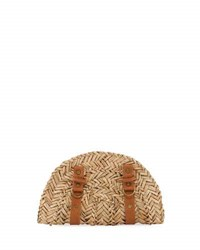 San Diego Hat Company Seagrass Zip Around Clutch Bag Neutral Pattern
