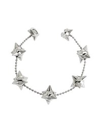 Dsquared2 Pierce Me Palladium Plated Metal Spiked Chain Armlet Silver
