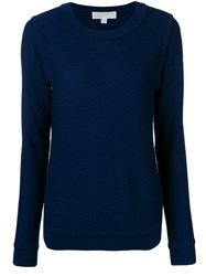 Michael Michael Kors Long Sleeve Fitted Sweater Blue