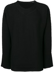 Issey Miyake Textured Jumper Men Cotton Nylon 3 Black