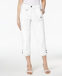 Style And Co Cargo Capri Pants Only At Macy's Bright White