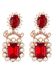Mawi Rubies Word Crystal Earrings Red