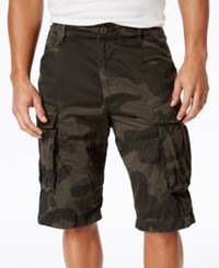 G Star Raw Men's Rovic Camo Print Cargo Shorts Asfalt Camo