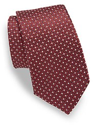 Moschino Dot Motif Silk Tie Red