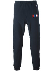 Champion 'Beams' Print Sweatpants Blue