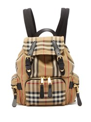 Burberry Vintage Check Mini Canvas Backpack Beige Multi