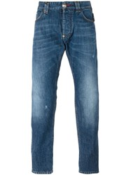 Philipp Plein Straight Leg Jeans Blue