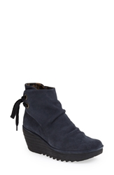 Fly London 'Yama' Bootie Blue Suede