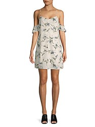 Lucca Couture Floral Cold Shoulder Dress White Floral