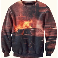 Aloha From Deer Blazing Sweater Red